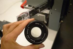 old camera lens used for enlarging